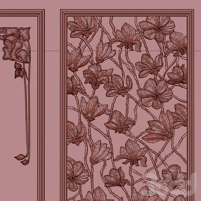 Modern Magnolia Panel