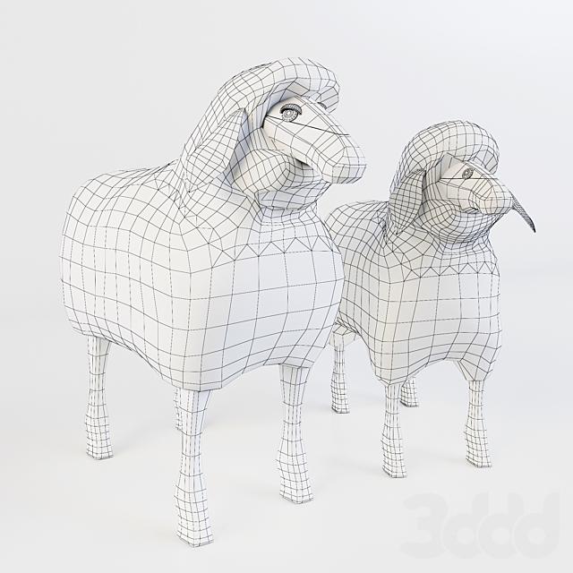 Wooden Sheep Stool