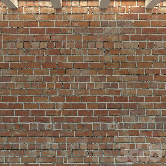 Кирпичная стена. Старый кирпич. 74