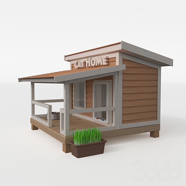 Уличный дом для кошки