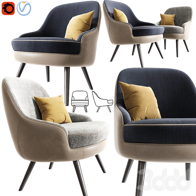 375 Walter Knoll Armchair With Pillow