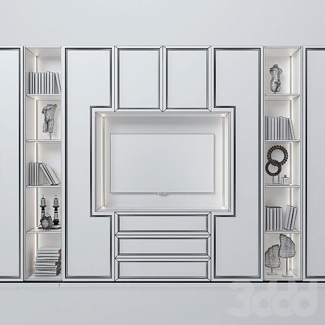 Шкаф с зоной ТВ 5