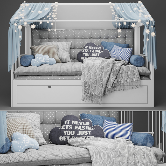 Children's bed - house