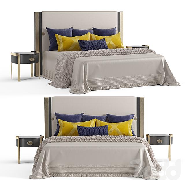 Кровать Turri Plaza и тумбы  DORIS Opera