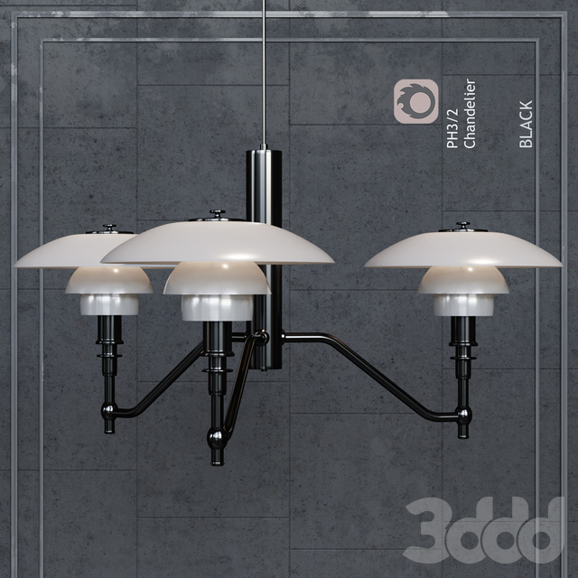 Люстра Louis Poulsen PH3/2 Academy Ceiling Lamp Black