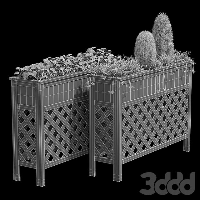 Raised patio planter 48