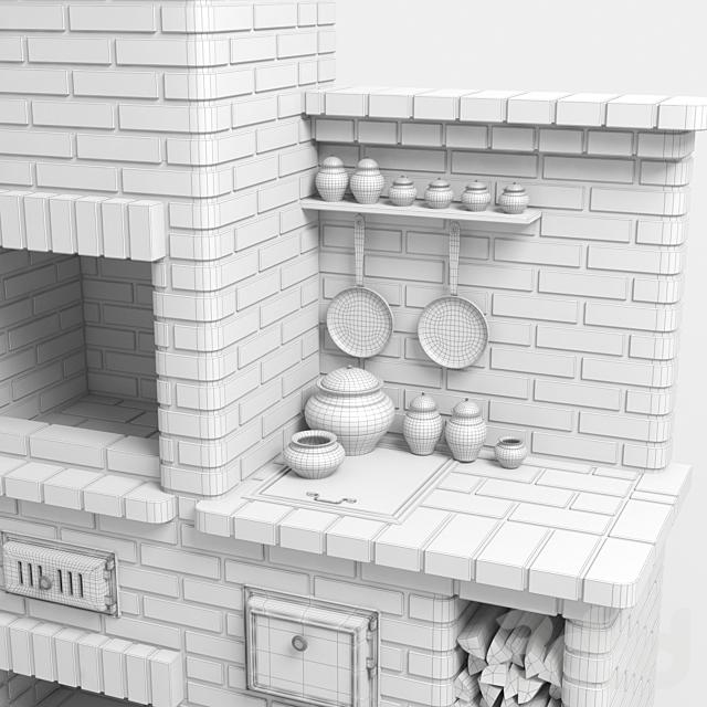 Барбекю печь из кирпича