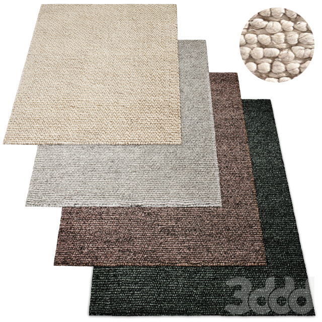 Ciclo Chunky Handwoven Wool Rug RH Collection
