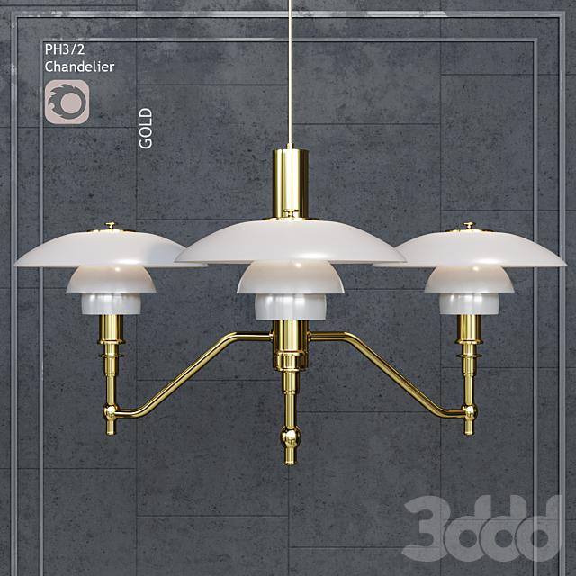 Люстра Louis Poulsen PH3/2 Academy Ceiling Lamp Gold