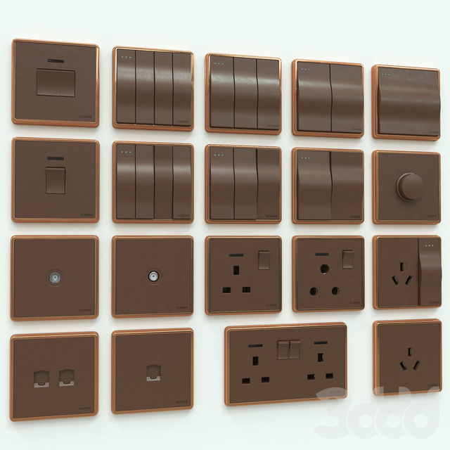 Scneme wall switches & sockets