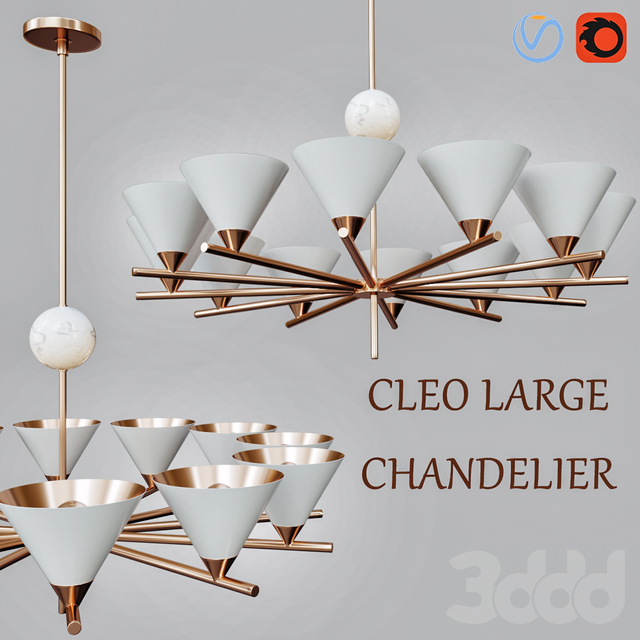 Cleo Large Chandelier designed by Kelly Wearstler