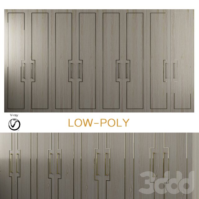 Joinery - WOOLF wardrobe (low poly)
