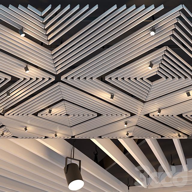 Подвесной потолок реечный. 26