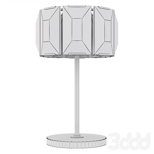 Restoration Hardware HARLOW CRYSTAL TABLE LAMP Nickel