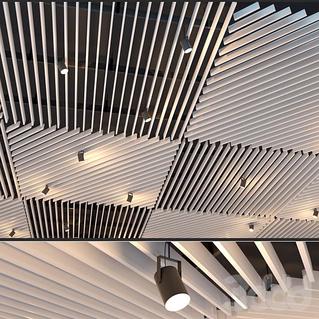Подвесной потолок реечный. 30