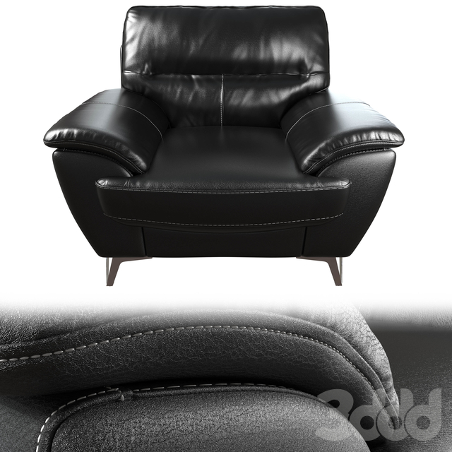Protter Leather-Look Fabric Chair