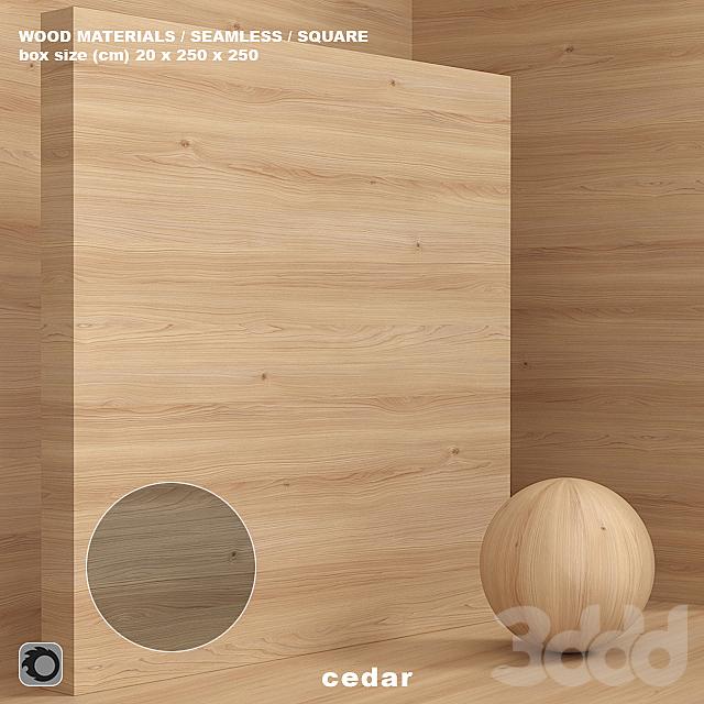 Материал дерево / кедр (бесшовный) - set 75