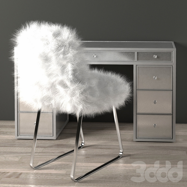 DELANEY MIRRORED STORAGE DESK