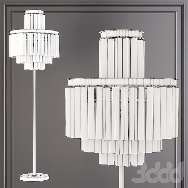 Restoration Hardware 1920S ODEON CLEAR GLASS FLOOR LAMP 4-TIER Black