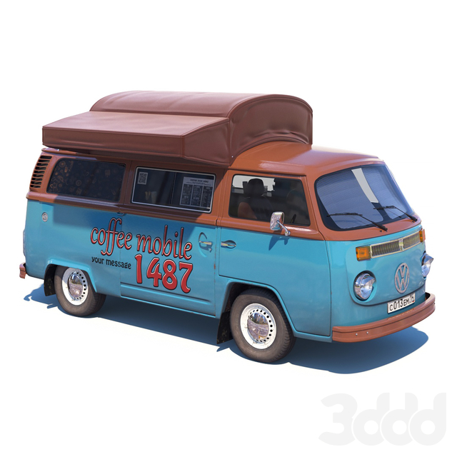 Уличный кофемобиль Volkswagen