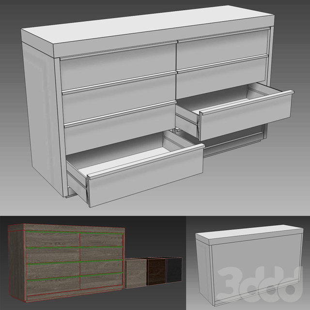 BEZIER 8-DRAWER DRESSER