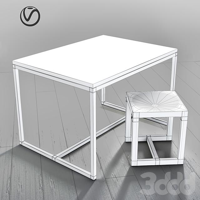 Arhpole chair & table
