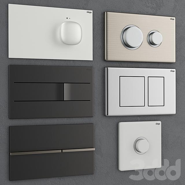 Кнопки смыва для инсталляции Viega 2