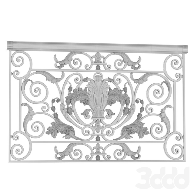 Классическое кованное ограждение с литыми вставками. Classic Forged Fence