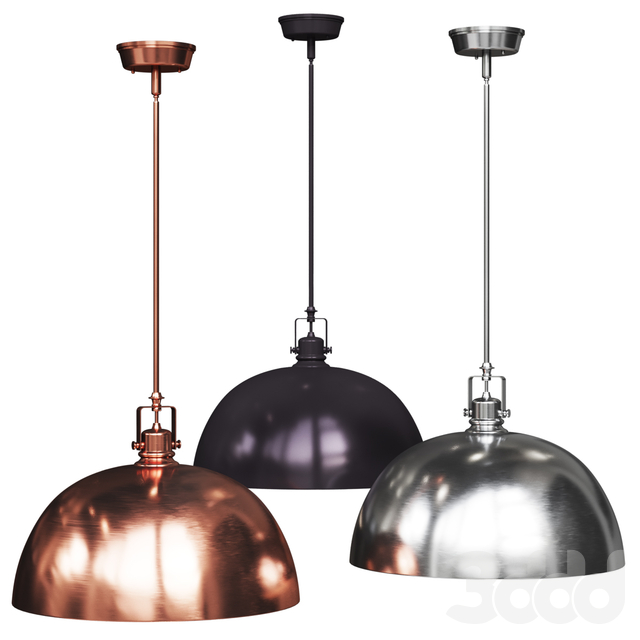 Светильники Southlake 1-Light Bowl Pendant brushed copper, nickel and black olive