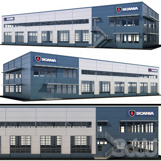 Сервисный бокс для грузовых автомобилей Scania