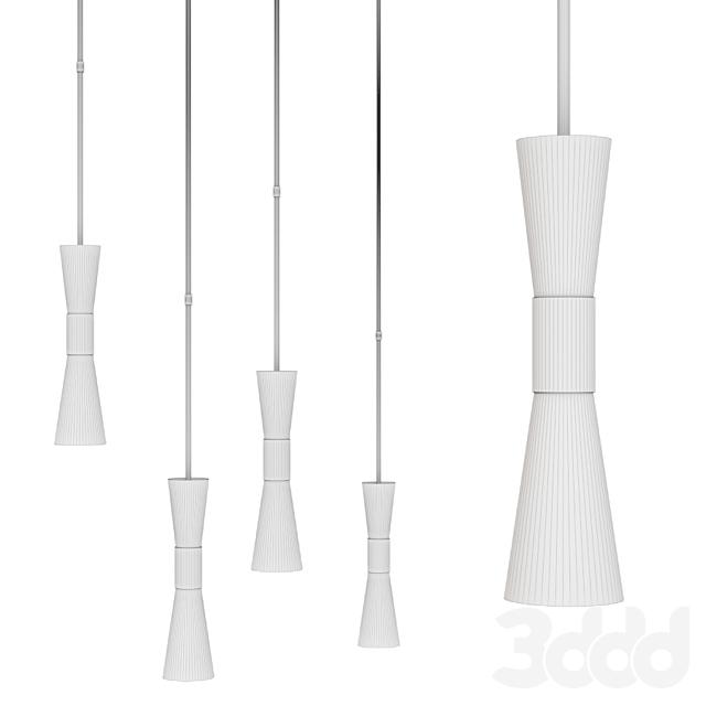Clarkson Medium Narrow Pendant by AERIN Brass and Milk glass