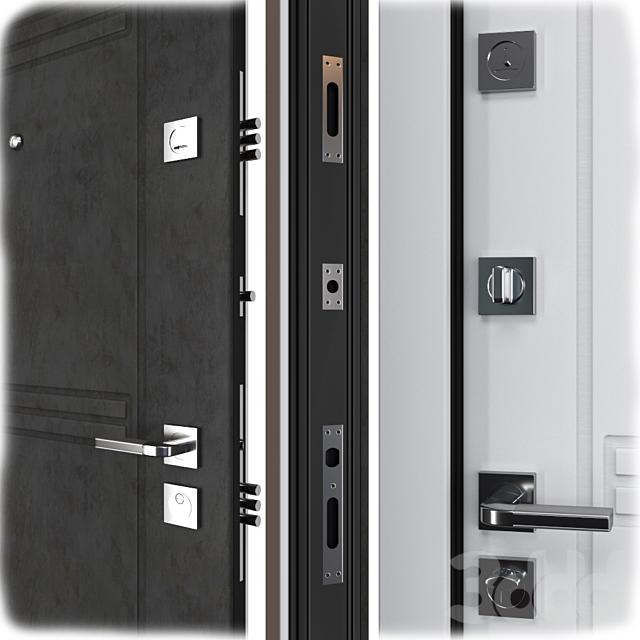 Входная металлическая дверь Трио (Ваша Рамка)