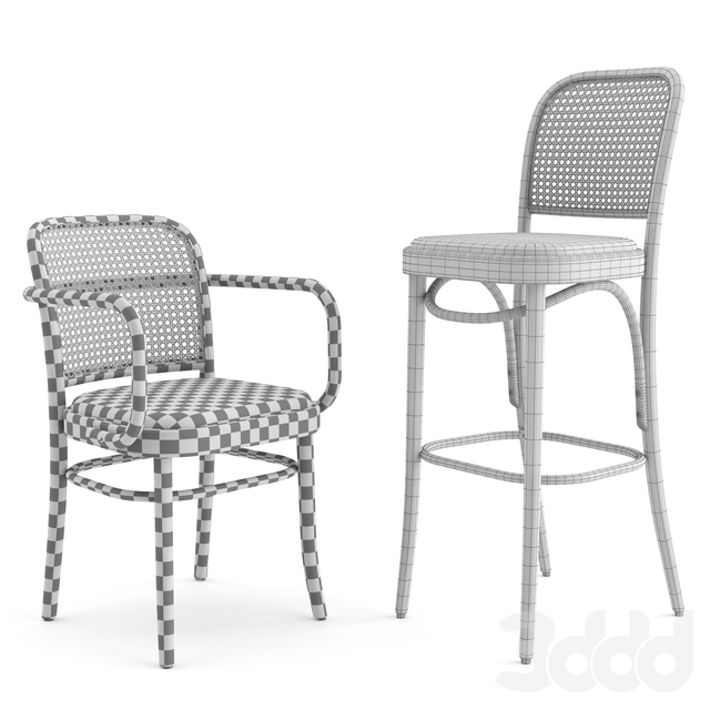 N. 811 Hocker by THONET VIENNA