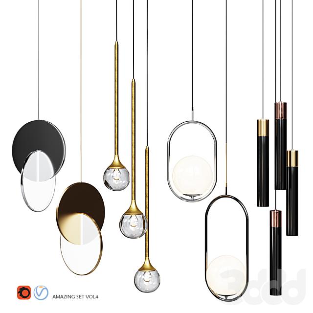 Four Pendant Lights amazing set vol4