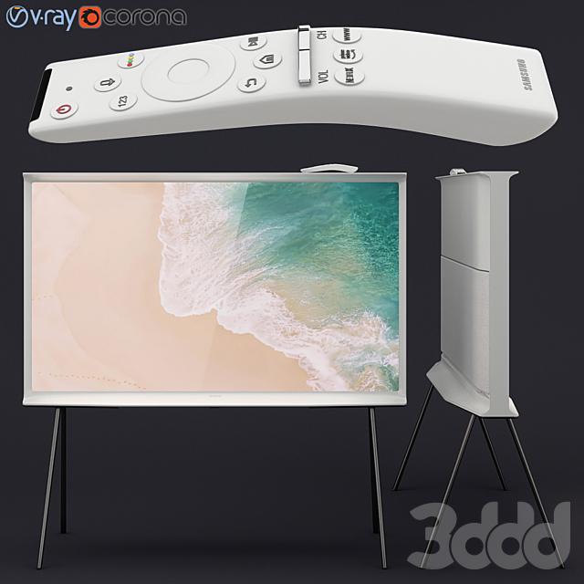 Samsung QLED The Serif TV white