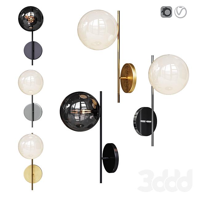 West Elm Sphere and Stem 1-Light Sconce