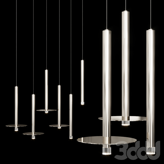 Grok CANDLE LED pendant lamp Nickel