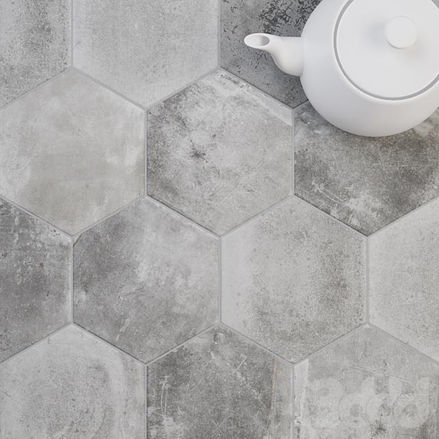 CIR Miami Esagona Dust Grey (Ex Polvere) Tile Set