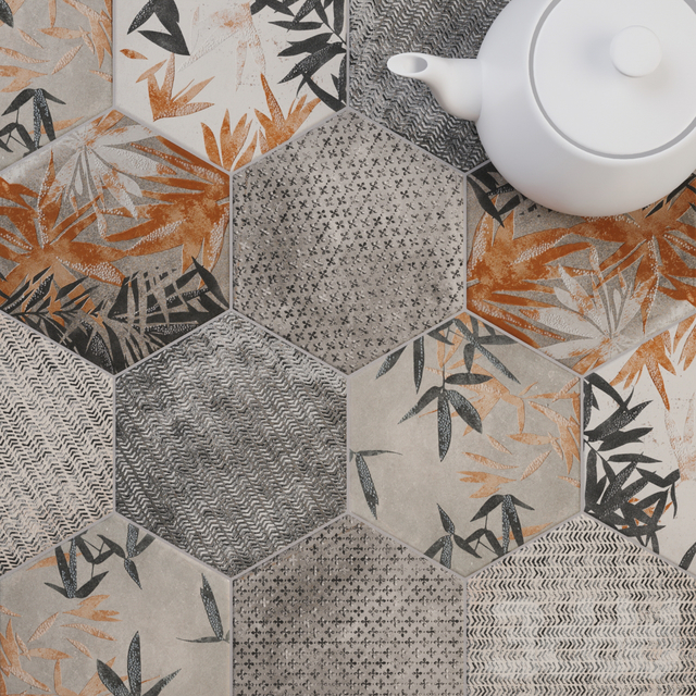 CIR Miami Esagona Florida Grey Tile Set