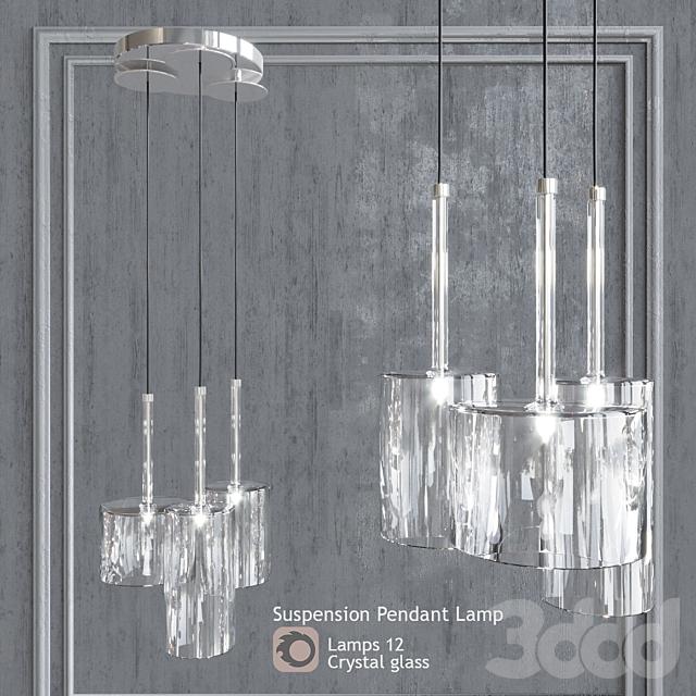 Подвесной светильник AXO Light Spillray SP3 Clear Glass pendant lamp