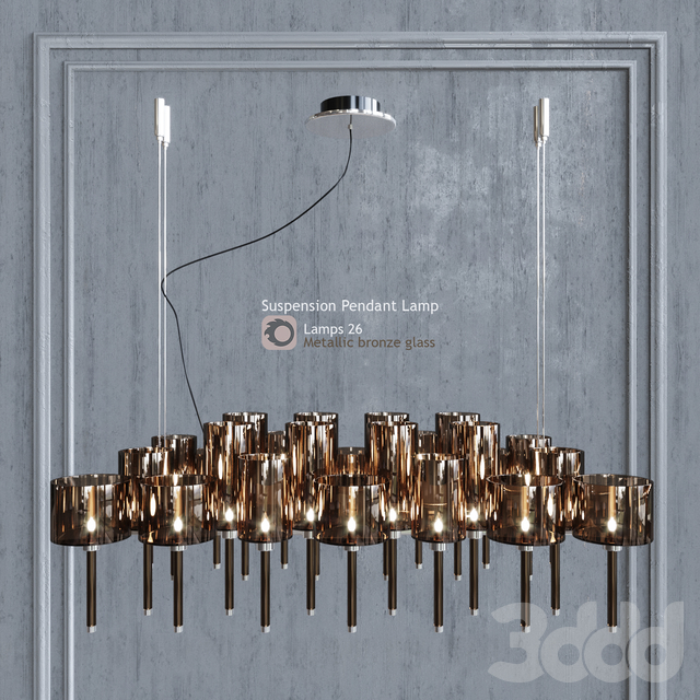 Люстра AXO Light Spillray SP lamps 26 metallic bronze glass