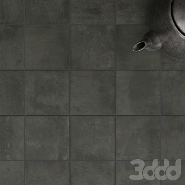 ZYX by Colorker AMAZONIA BLACK tile set