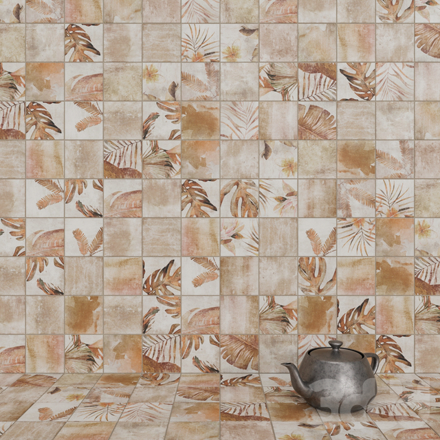 ZYX by Colorker AMAZONIA TROPIC COTTO tile set