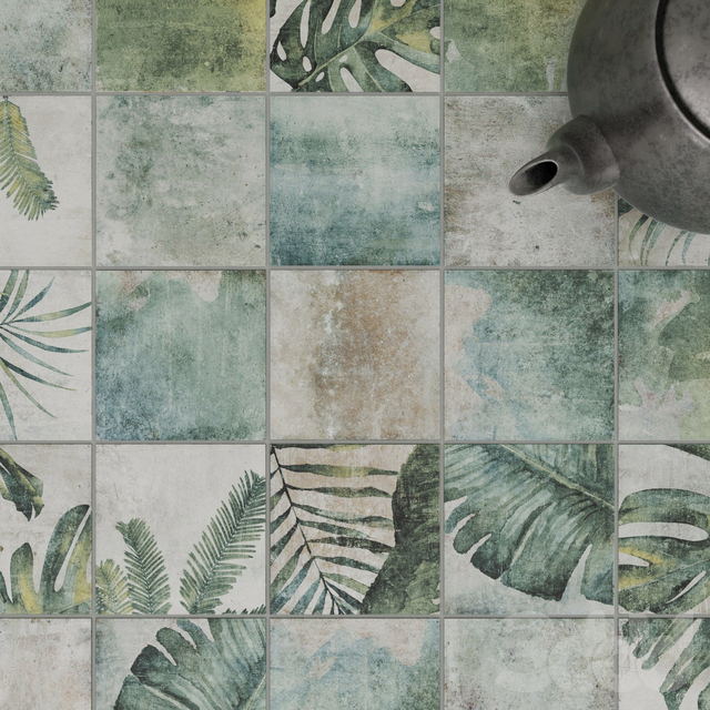 ZYX by Colorker AMAZONIA TROPIC EMERALD tile set