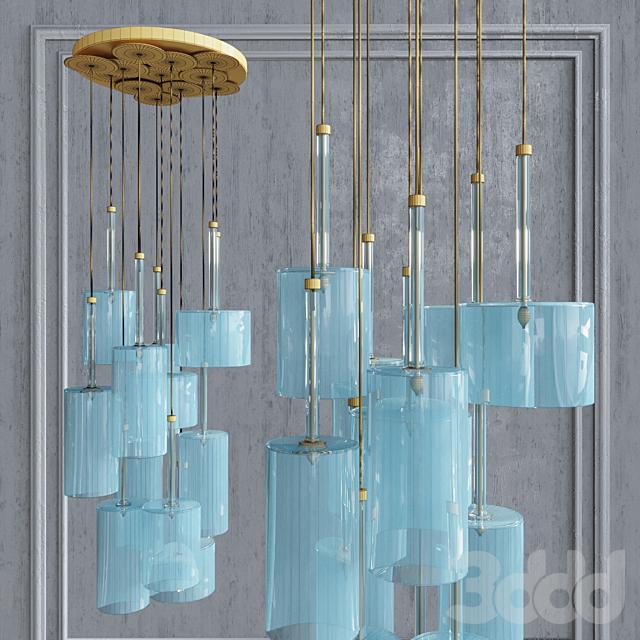 Подвесной светильник AXO Light Spillray SP lamps 12 smoke glass