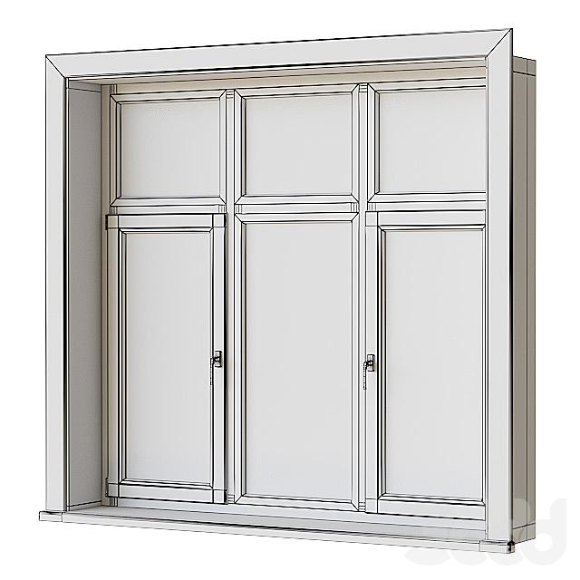 Набор деревянных окон 2 + Kонструктор
