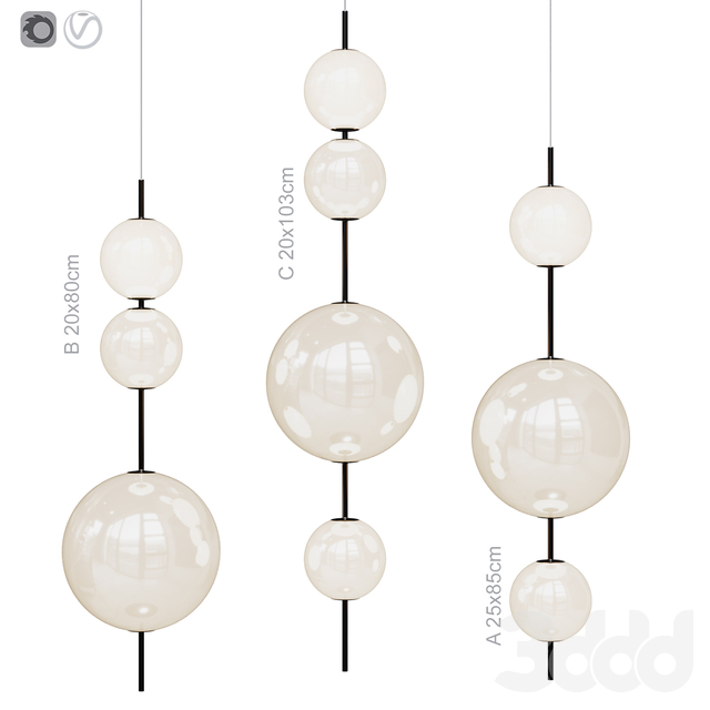 Подвесной светильник Lampatrom Beads 3 types