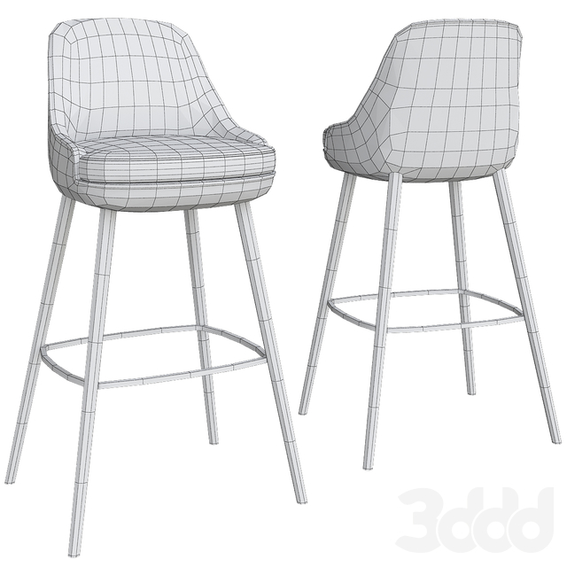 Bar stool by Walter Knoll (low poly)