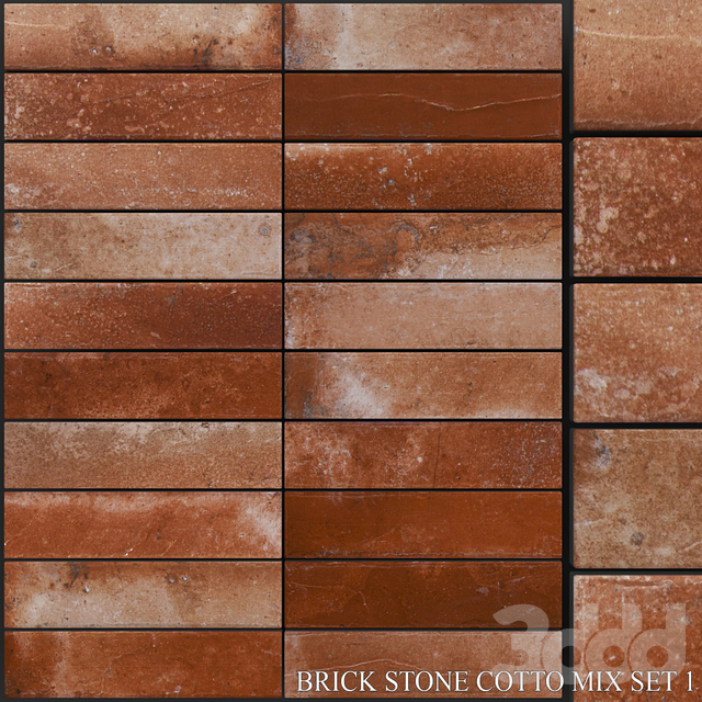 Yurtbay Seramik Brick Stone Cotto Mix Set 1