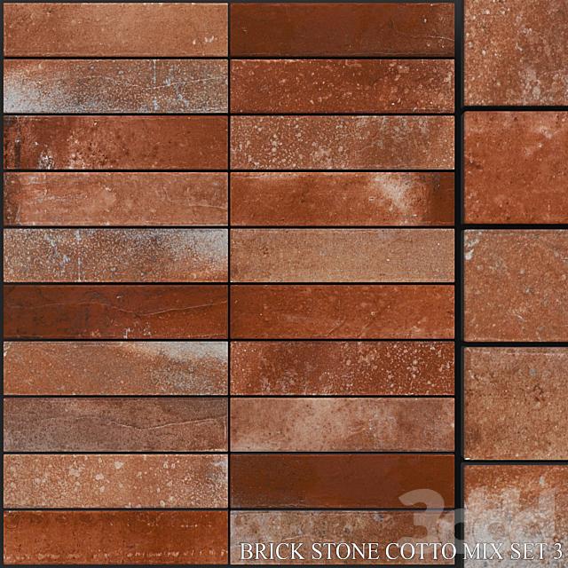 Yurtbay Seramik Brick Stone Cotto Mix Set 3